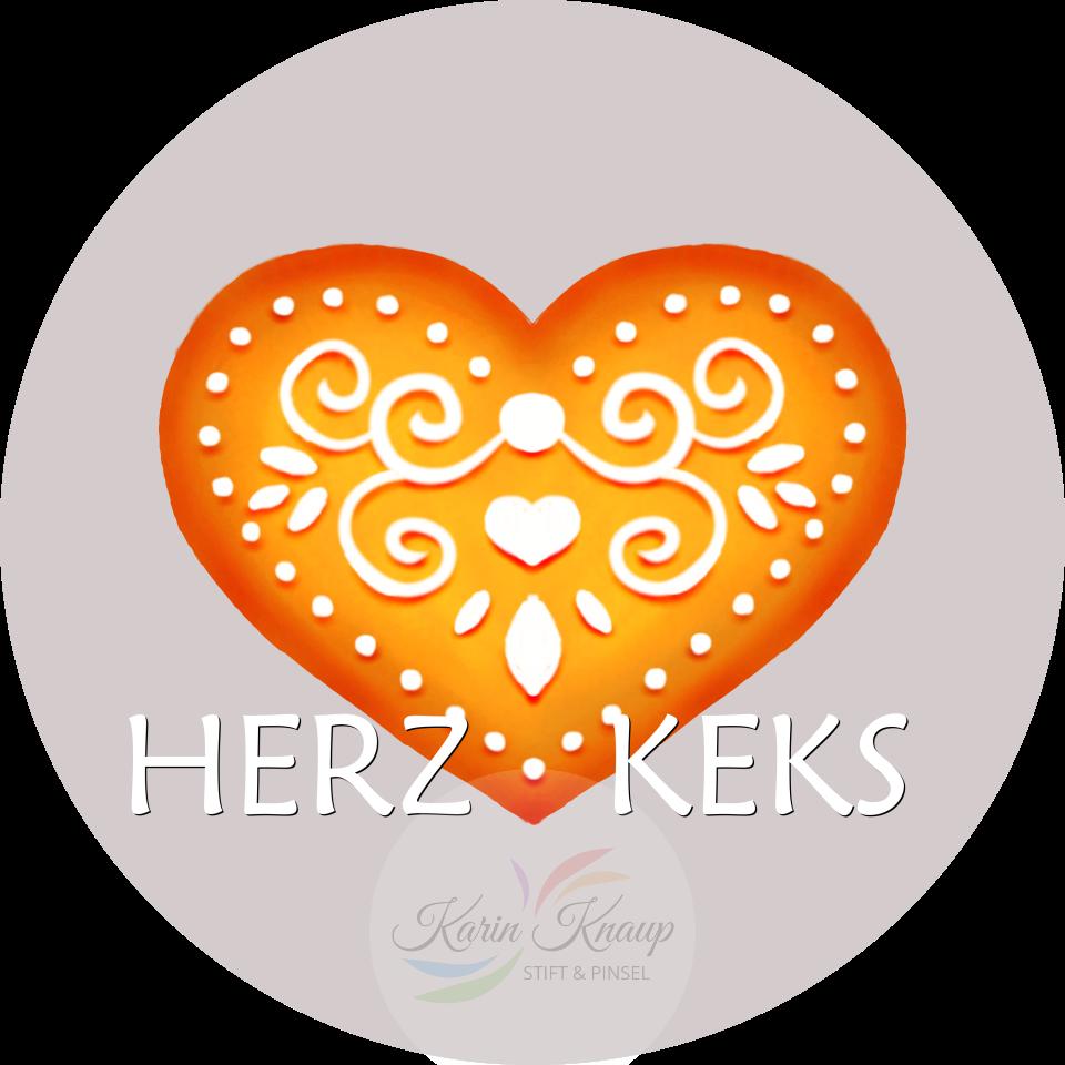 Herzkeks - Keks mit Zuckerguss - Logo