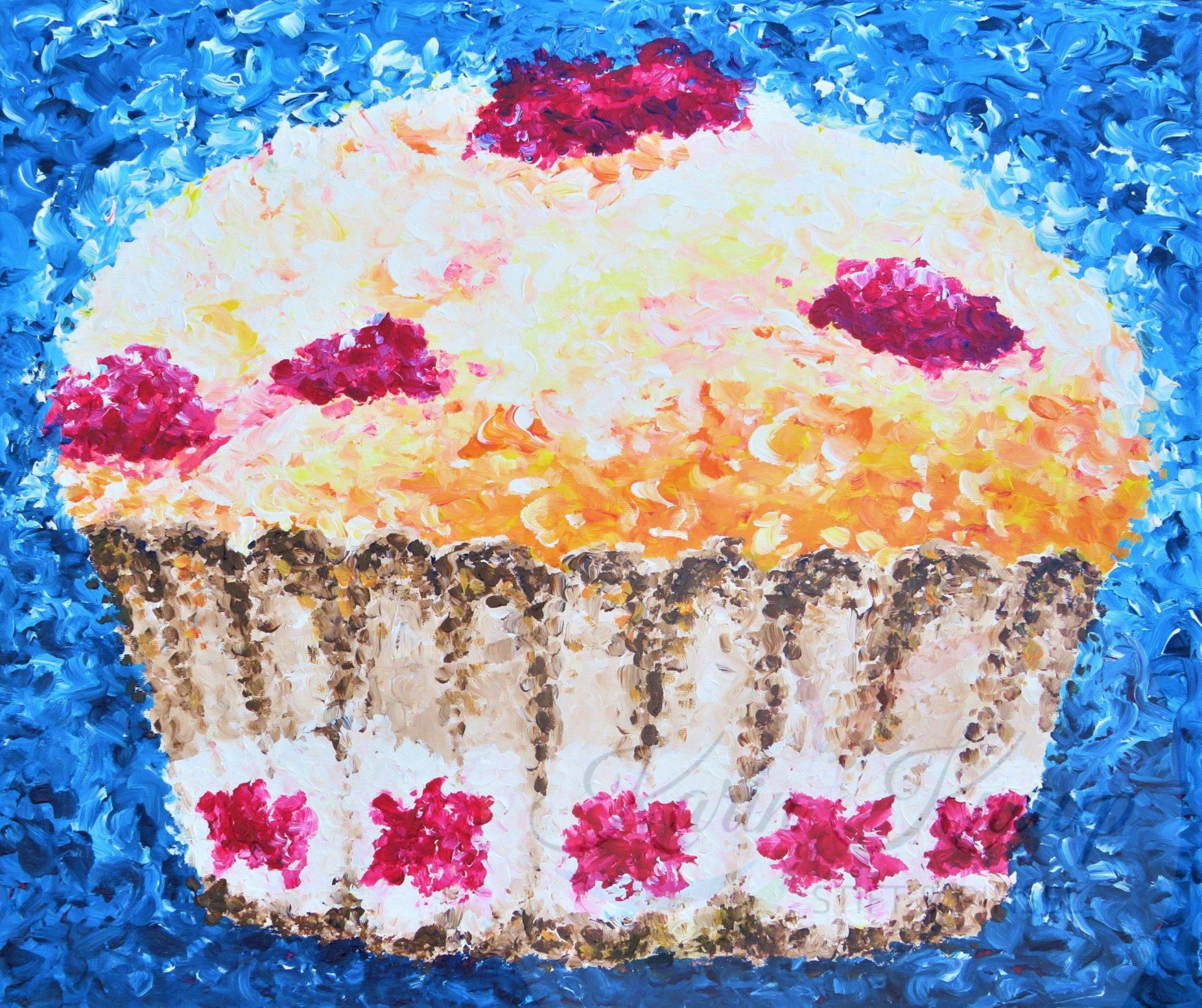 Muffin Acryl auf Leinwand 50 x 60 cm